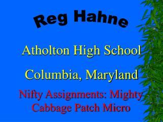 Reg Hahne