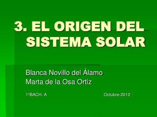 3. EL ORIGEN DEL     SISTEMA SOLAR