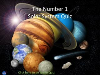 The Number 1 Solar System Quiz