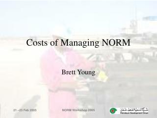 Costs of Managing NORM