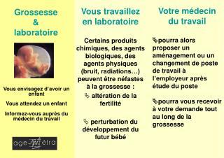 Grossesse & laboratoire