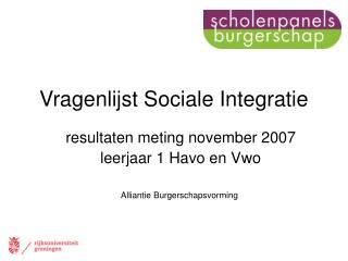 Vragenlijst Sociale Integratie