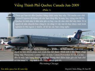 Viếng Thành Phố Quebec Canada Jun-2009 (Phần 1)