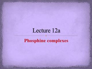 Lecture  12a