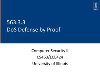 563.3.3  DoS Defense by Proof