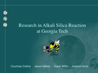 Research in Alkali Silica Reaction  at Georgia Tech