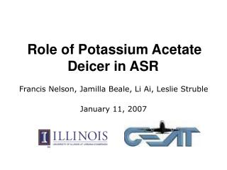 Role of Potassium Acetate Deicer in ASR