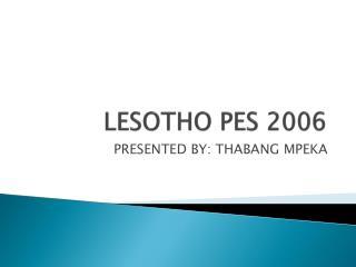 LESOTHO PES 2006