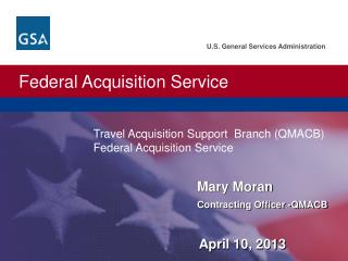 Mary Moran Contracting Officer -QMACB