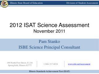 2012 ISAT Science Assessment November 2011