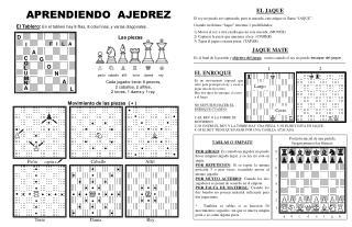 El Tablero :  En el tablero hay 8 filas, 8 columnas, y varias diagonales.