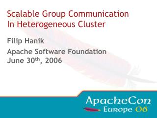 Scalable Group Communication In Heterogeneous Cluster