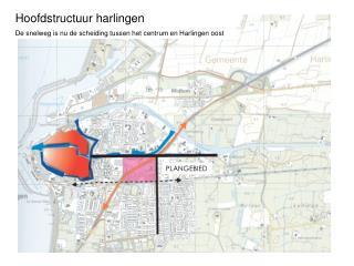 Hoofdstructuur harlingen De snelweg is nu de scheiding tussen het centrum en Harlingen oost