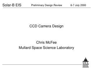 CCD Camera Design