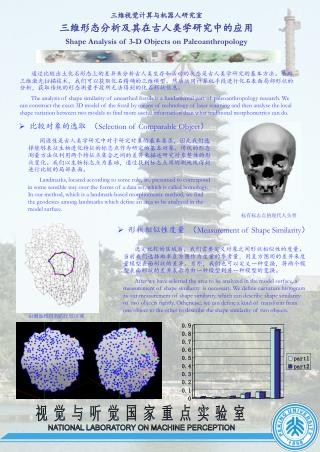 三维视觉计算与机器人研究室 三维形态分析及其在古人类学研究中的应用 Shape Analysis of 3-D Objects on Paleoanthropology