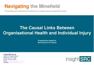 Navigating the Minefield Preventing and conquering the barriers to complex injury management cases