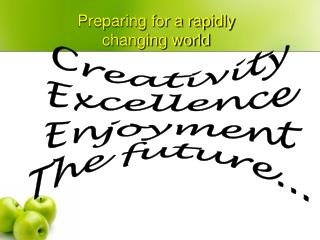Creativity Excellence Enjoyment The future...