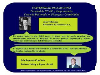 UNIVERSIDAD DE ZARAGOZA Facultad de CC.EE. y Empresariales