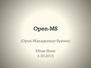 Open-MS