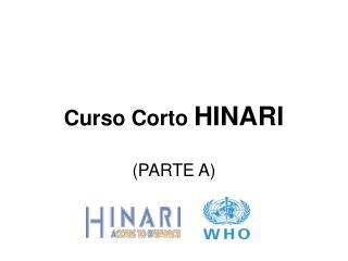 Curso Corto HINARI  (PARTE A)
