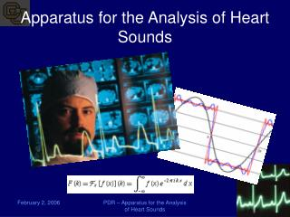 Apparatus for the Analysis of Heart Sounds