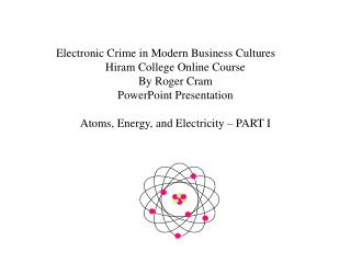 Electronic Crime in Modern Business Cultures Hiram College Online Course