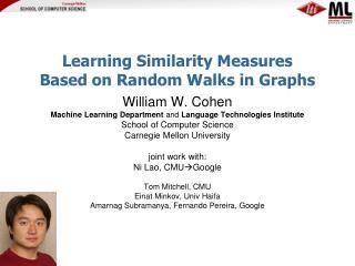 Learning Similarity Measures  Based on Random Walks in Graphs