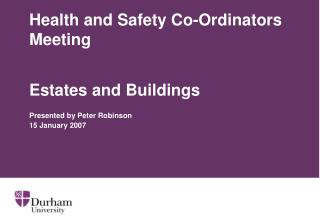 Health and Safety Co-Ordinators Meeting