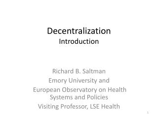 Decentralization Introduction