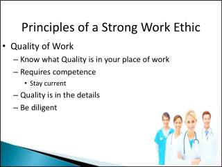 Principles of a Strong Work Ethic