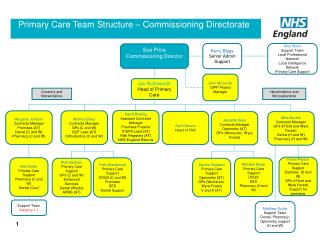 Primary Care Team Structure – Commissioning Directorate