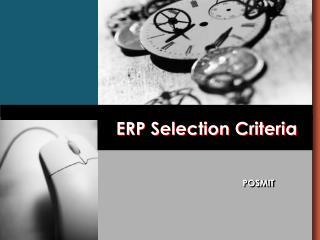 ERP Selection Criteria