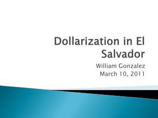 Dollarization in El Salvador