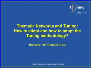 Tuning envisages co-operation at three levels: Level of Information