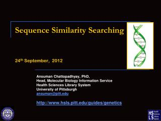 Sequence Similarity Searching 24 th  September,  2012