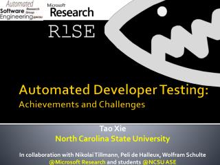Automated Developer Testing: Achievements and Challenges