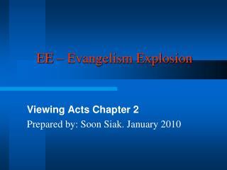 EE – Evangelism Explosion
