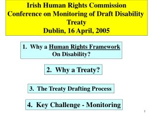 Irish Human Rights Commission Conference on Monitoring of Draft Disability  Treaty