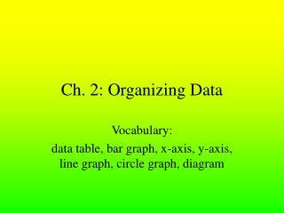 Ch. 2: Organizing Data
