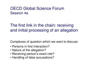 OECD Global Science Forum Session 4a