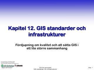 Kapitel 12. GIS standarder och infrastrukturer