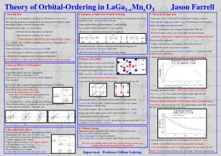 Theory of Orbital-Ordering in LaGa 1- x Mn x O 3           Jason Farrell