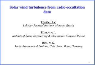 Solar wind turbulence from radio occultation data