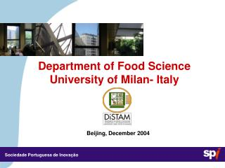 Department of Food Science University of Milan- Italy