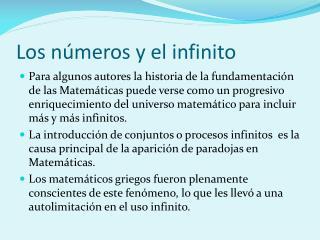 Los números y el infinito