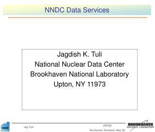 NNDC Data Services