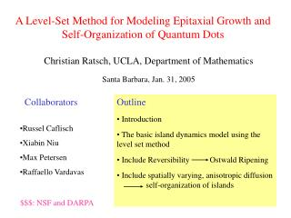 A Level-Set Method for Modeling Epitaxial Growth and Self-Organization of Quantum Dots