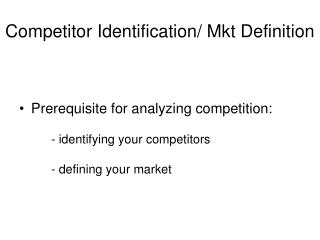 Competitor Identification