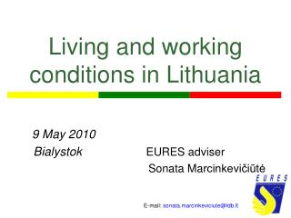 Living and working conditions in Lithuania