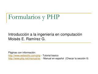 Formularios y PHP